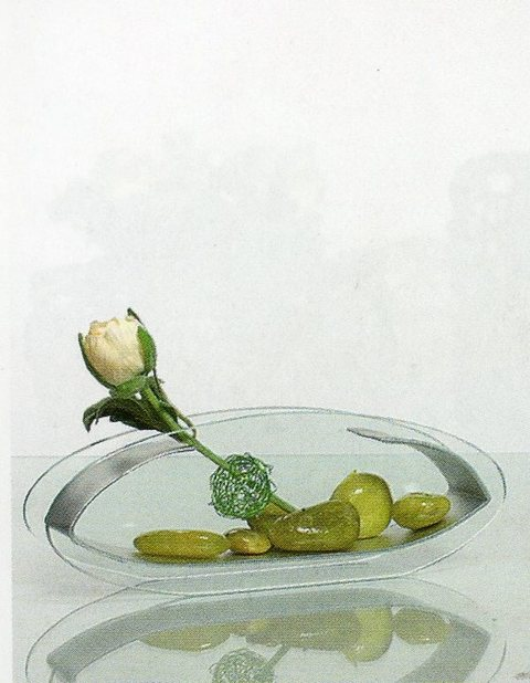 Vaso vetro - ferro  H 8 L 23x5 Mod. Melinda