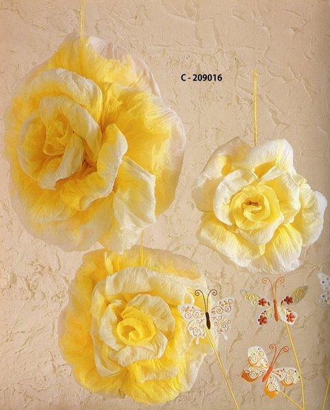 Rose giganti in carta  Set x 3
