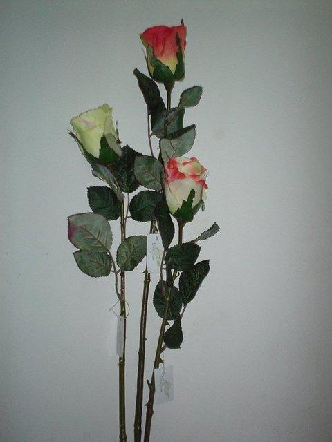 Bocciolone di Rosa in poliestere H 120 per fioristi e wedding