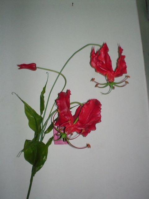 Gloriosa x 3 Artificiale in Flormatik  per fioristi e wedding