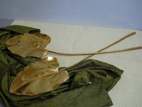 Foglia di Pothos   lamina oro H 78