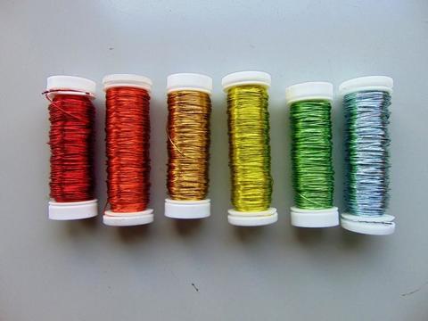 Filo ferro capillare dm. 0,3 da gr.25 vari colori per fioristi e wedding