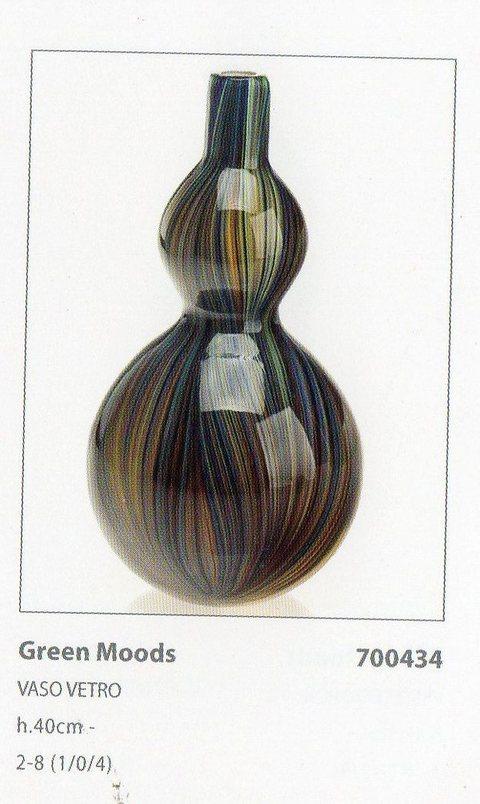 Vaso vetro H 40  Colorato Iride