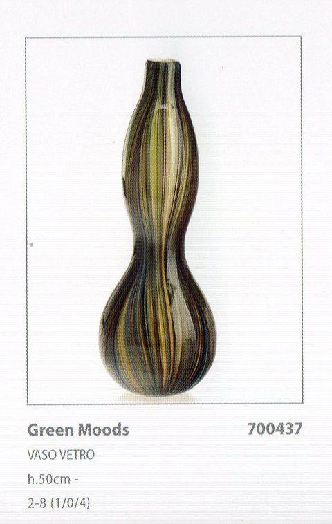 Vaso in vetro H 50 Iride Sinuoso