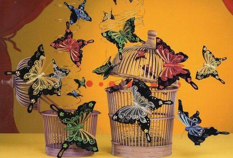Farfalla velluto Moulin Rouge cm. 12 x 10