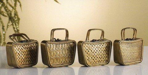 Borsina Vimini oro  con chiusura metallica in 4 modelli