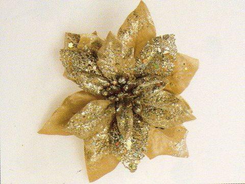 Stella Natale Oro con Clip - Sconti per Fioristi e Aziende