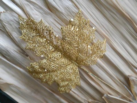Foglia di Acero  Oro H 40 Glitterata oro