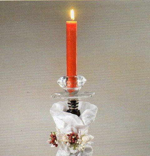 Tappo in cristallo porta candela