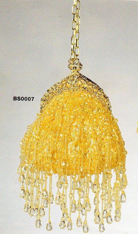Borsetta Oro  Con tracolla pendenti in vetro