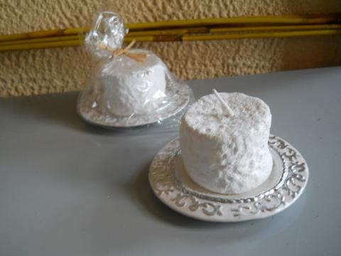 Piattino Natalizio  Ceramica con candela