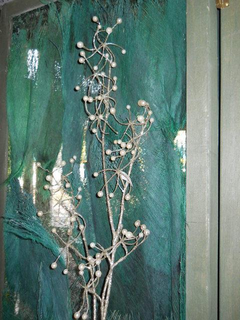 Ramo con perle  H 80 Argento