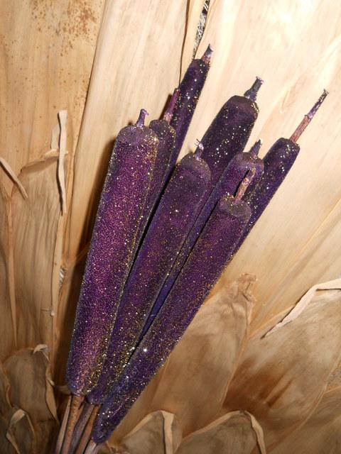 Tipha con glitter H 120  Busta 8 rami