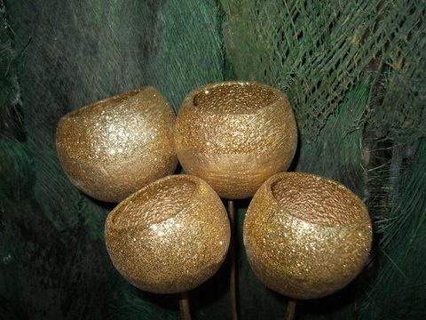 Bell Cups steccati c/glitter  Busta 4 rami