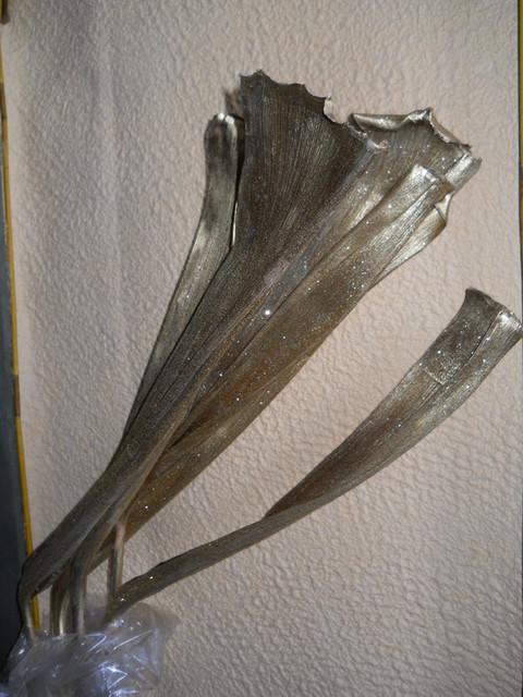 Ramo Acacia Natarule  Argento/Oro Busta 3 rami