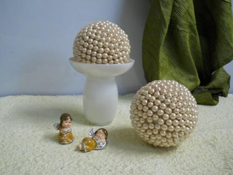 Sfera ricoperte di perle  in 2 colori - Sconti per Fioristi e Aziende