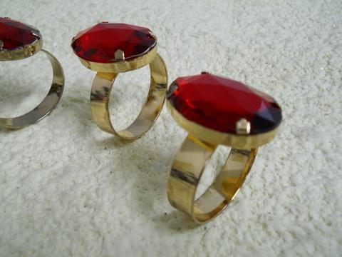 Anello Porta tovaglioli x 4 Rubino