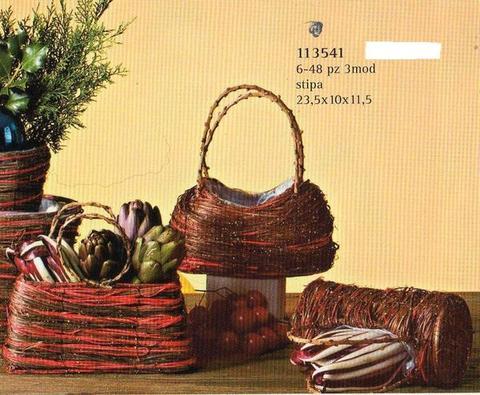 Borsette Sea Grass  Rossa 3 modelli