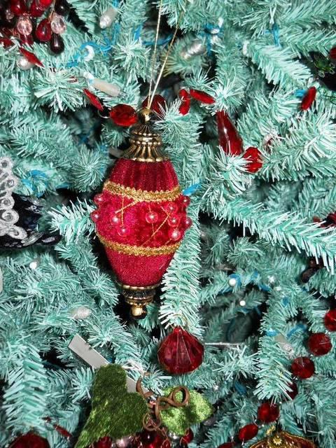 Palline di Natale x 2 in velluto e perle in 3 Modelli - Sconti per Fioristi e Aziende
