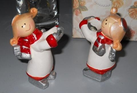 Angeli x 8  in ceramica  con anello