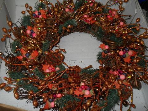 Corona natalizia Copper   cm. 55 - Sconti per Fioristi e Aziende