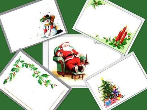 Biglietti Stampe natalizie c/busta rossa con busta ross
