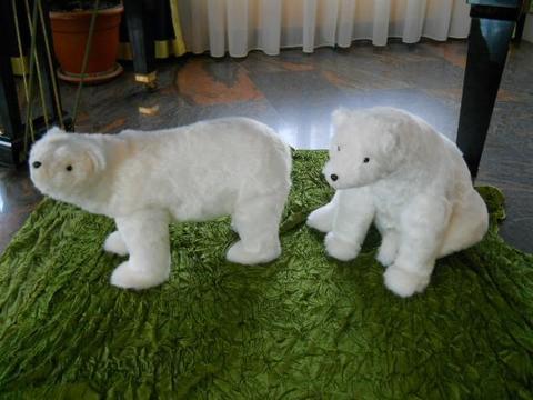 Orso Polare Bianco in pelliccia 3 modelli - Sconti per Fioristi e Aziende