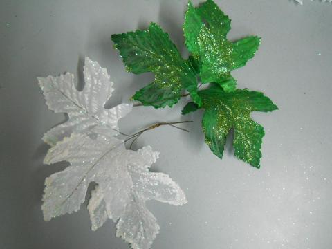 Foglie Acero Glitterate in 2 misure - Sconti per Fioristi e Aziende