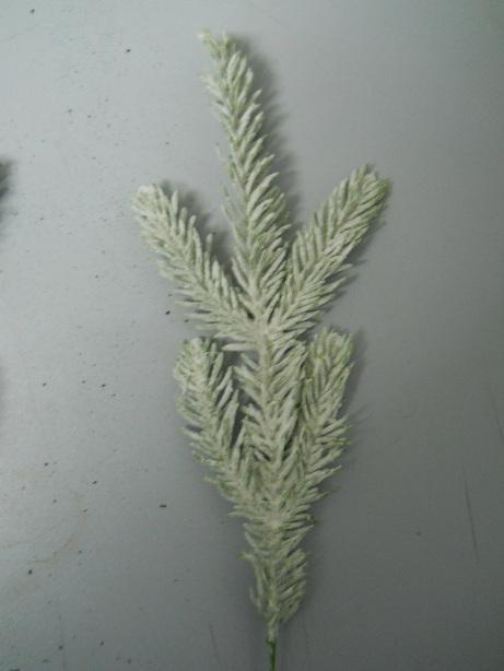 Rametto Abete Floccato   lungo cm.30 color bianco - Sconti per Fioristi e Aziende