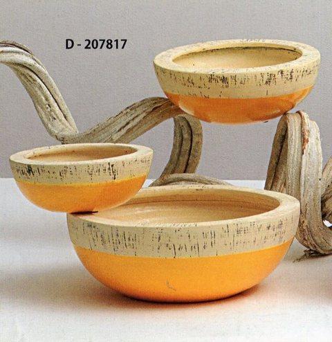 Ciotole x 3 in ceramica Linea bicolore per fioristi, wedding e Arredatori