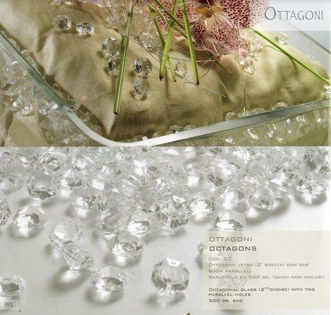 Diamanti Ottagonali  Trasparenti gr. 500