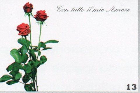Bigliettini San Valentino cm.9,5 x 6,3 per fioristi e wedding