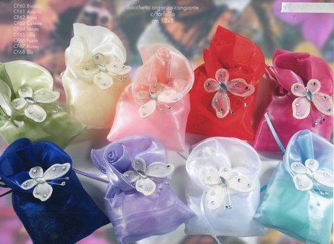 Sacchetto Organza  con Farfalla  in nylon