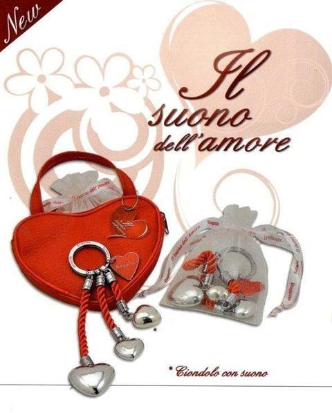 Portachiavi in argento love Articolo per S. Valentino - Sconti per Fioristi e Aziende