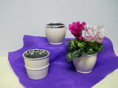 Casponcino ceramica cm. 8 x 8 in 2 modelli - Sconti per Fioristi e Aziende