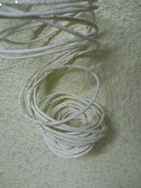 Corda crema x 6 fili   Glitterati da mt.1,5