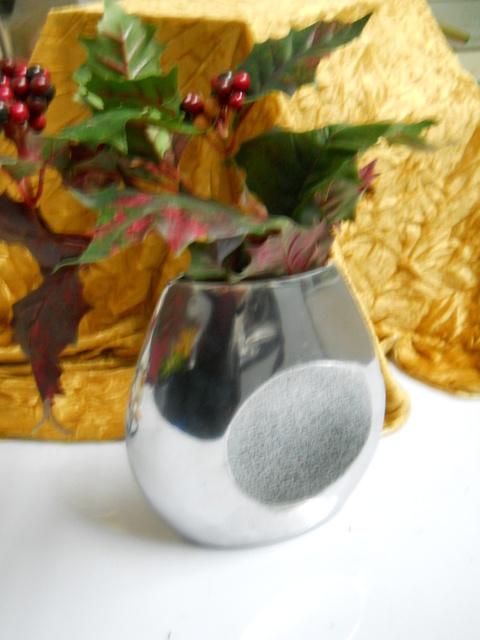 Vaso Metal  Argento alto cm. 20