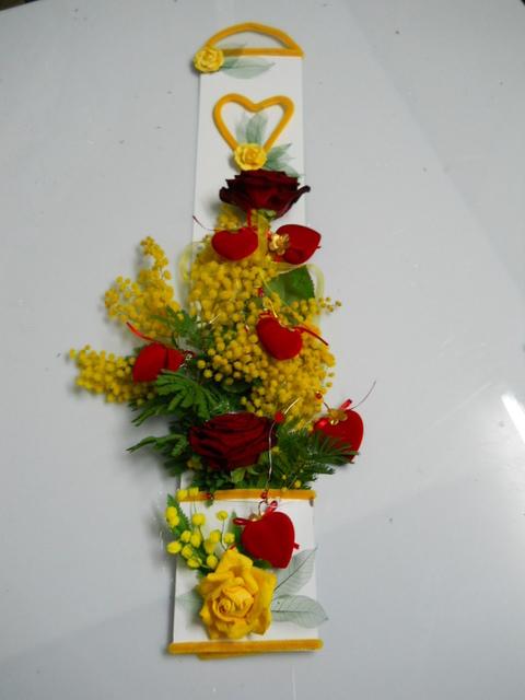 Busta Mimosa H 70  con tasca   decoro ciniglia