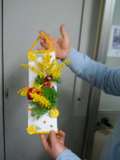 Busta mimosa x 10 fiori vetro H 37,5 x 16,5 con tasca  - Sconti per Fioristi e Aziende