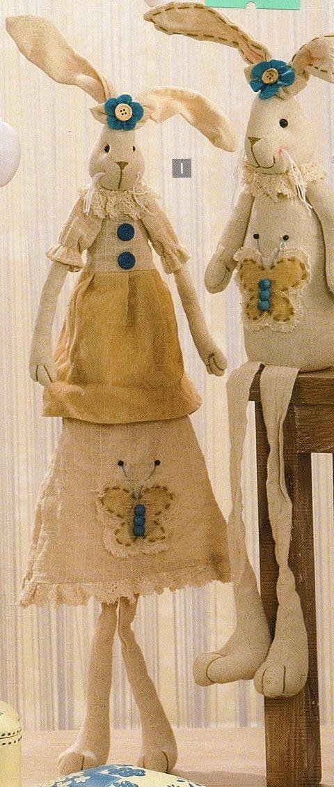 Conigli Seduti H 66  Maschio & femmina - Sconti per Fioristi e Aziende