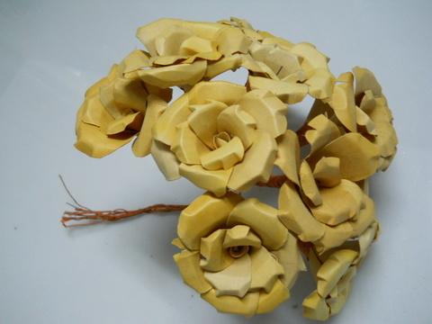 Rose legno x 10  gambate - Sconti per Fioristi e Aziende