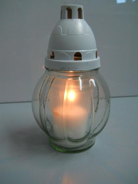 Lume in vetro segnaviale c/candela
