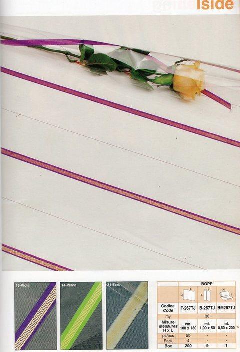 Cellofan funebre Bobina H100x50 mt   H100 x 50 mt  Modello ISIDE