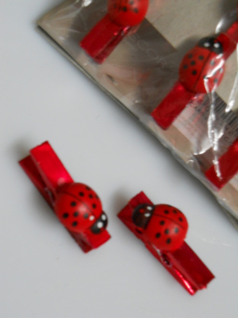 Mollettine Rosse Metal x 6 Coccinelle