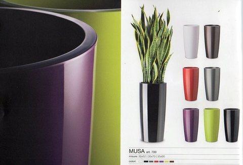 Vaso Musa H 70 dm. 35 in Plastica lucida - Sconti per Fioristi e Aziende