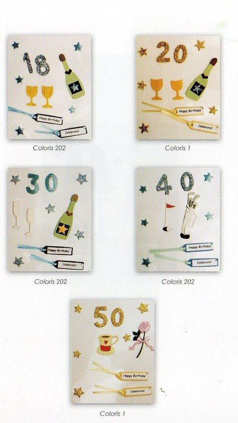Stickers Compleanno & Anniversario cm. 10 x 12 - Sconti per Fioristi e Aziende