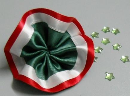 Coccarda tricolore con spilla per commemorazioni - Sconti per Fioristi e Aziende