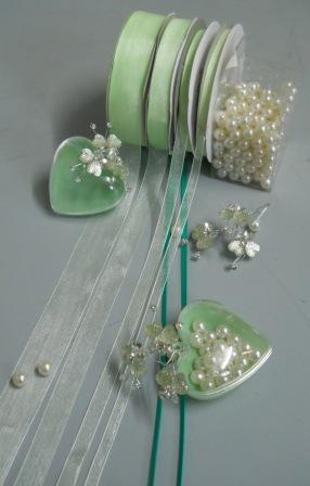 Nastro Organza color Tiffany  mt. 50