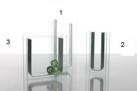 Vaso vetro - ferro linea Lorena  In 3 misure
