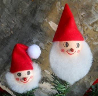 Testa di Babbo Natale con barba in ovatta in 2 misure - Sconti per Fioristi e Aziende